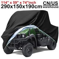 290x150x190cm XXXXL 210D Waterproof Rain Snow Dust UV Proof Protector Motorcycle Vehicle Scooter ATV UTV Quad Motor Cover Covers