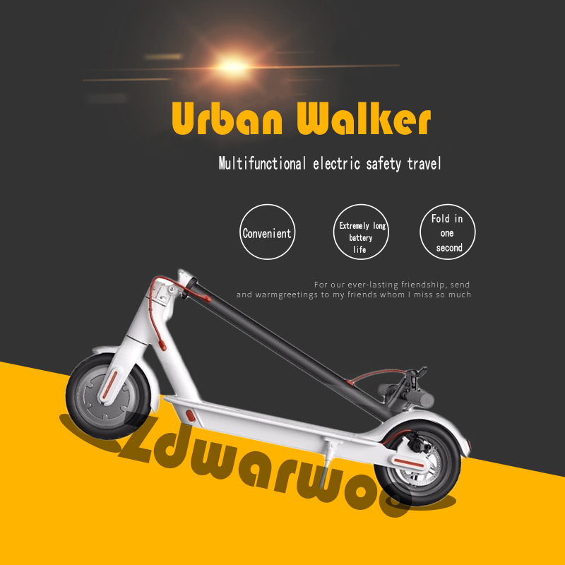 Купить с кэшбэком Portable Electric Scooter 8.5 Inch Inflatable Tires Foldable Adult Wheel Electric Skateboard for Commute and Travel e scooters