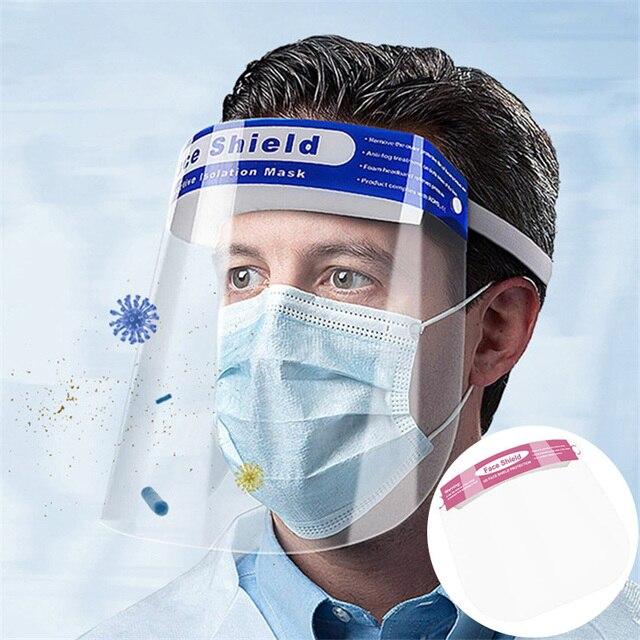 Anti Saliva Splash Dust-proof Face Shield Head-mounted HD Transparent Protect Mask Adjustable Protective Masks Full Face Masker