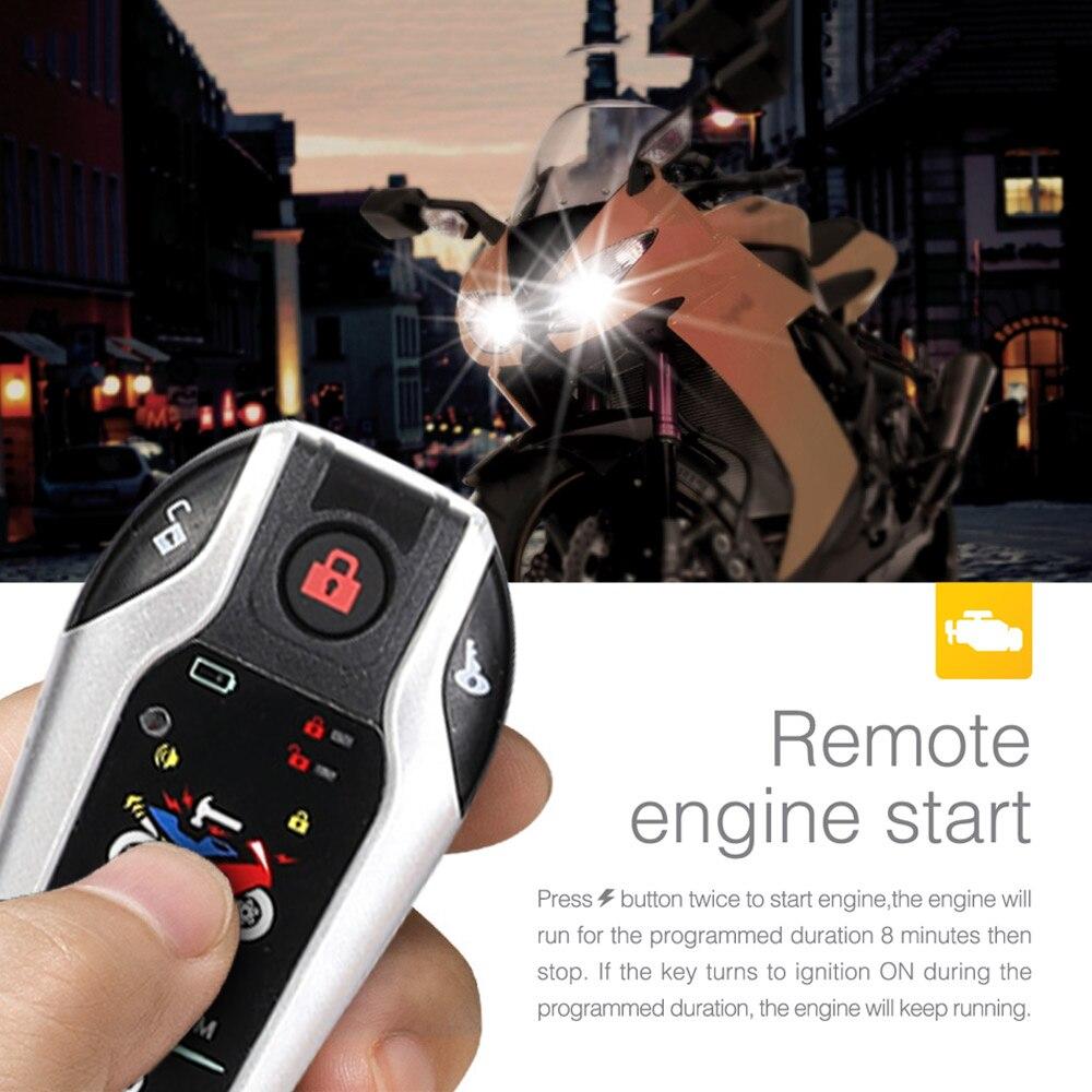 Двухполосная сигнализация для мотоцикла, противоугонная система для скутера, вибрационная сигнализация, дистанционный запуск двигателя, 5 ...