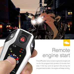 Image 3 - Two Way Motorcycle Alarm Device Anti theft System Scooter Burglary Vibration Alarm Remote Engine Start 5meter Auto lock 5
