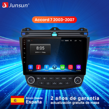 Junsun V1 pro 4G+64G CarPlay Android 9.0 DSP For Honda Accord 7 2003;2004-2007 Car Radio Multimedia Video Player Navigation GPS