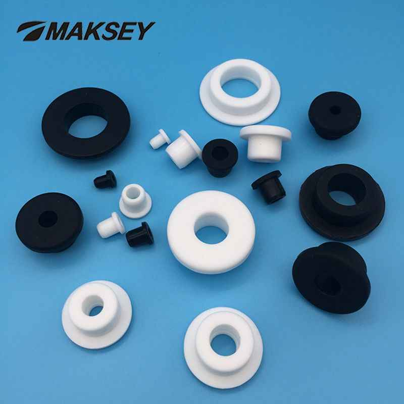 MAKSEY Siliconen rubber single wire guard coil 5mm 6mm 7mm 8mm 9mm Rubber beschermende ring caps elektrische draad grommet nylon washer