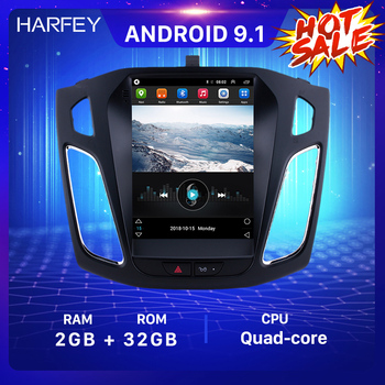 Harfey 9.7 inch Autoradio GPS Android 9.1 Car Stereo for Ford Focus 2012 2013 2014 2015 Head Unit Support OBD2 Rearview Camera image