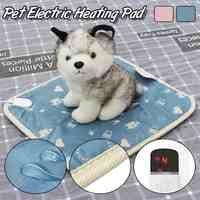 Intelligente Zeit Pet Hund Katze Winter Warme Elektrische Heizung Decke Pad Körper Winter Wärmer Matte Bett Decke Tiere Bett Heizung 220V