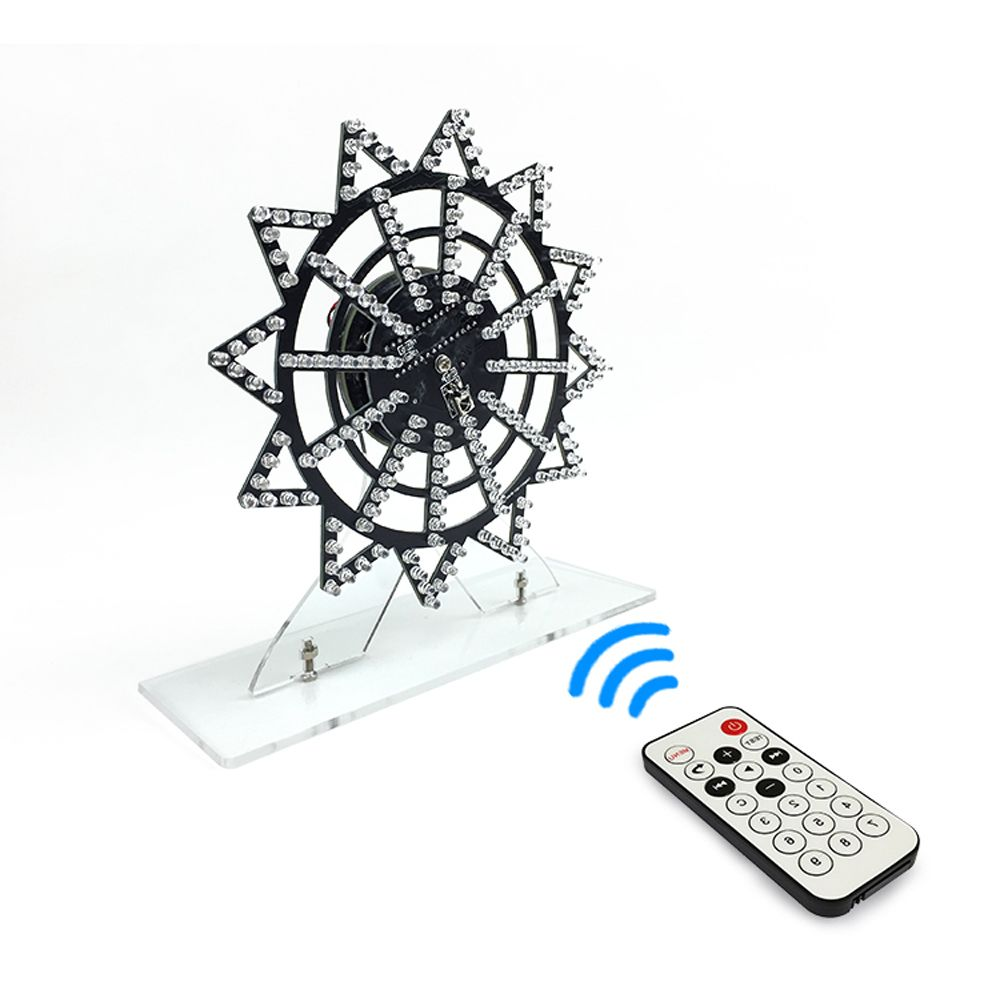 LEORY Colorful LED Automatic Rotating Ferris Wheel Kit Electronic Components Diy Music Spectrum Production DIY  Kit NEW
