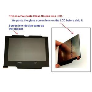 Image 2 - V2 IPS شاشة LCD أطقم ل GBA SP الخلفية شاشة LCD 5 مستويات السطوع V2 شاشة ل GBA SP وحدة التحكم و قبل قطع قذيفة