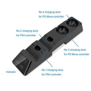 Image 5 - Зарядная док станция для контроллера 4 в 1, подставка для Playstation PS4, PSVR, PS VR Move, четырехъядерное зарядное устройство для контроллера PS4 Move и VR