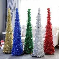 Christmas Tree Shining Star Sequin Garland Christmas Ornament Pulling Flower Tree Home Xmas Decoration