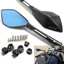 2 pcs/par acessórios da motocicleta espelho retrovisor de alumínio para honda cb400 dio hornet yamaha fz1 mt07 mt09 kawasaki z800 z1000