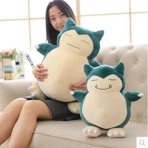 30/50 см милые большие Snorlax аниме, плюшевая игрушка, прекрасная маленькая белая игрушка мультфильм мягкий плюшевый енот чучело кукла подарок д...