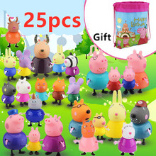 Original Fashion Styles Peppa pig Family George Action Figure Various Grandpa Grandma Dad Mom and Doll Model for Kid