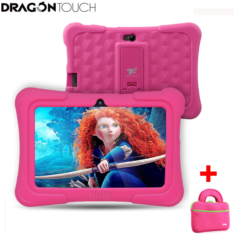 Dragon Touch Y88X Plus 7 inch Kids Tablet for Children 16GB Quad Core Android 8.1 +Tab bag+ Screen Protector gifts for Child Kid image