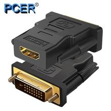 DVI convertidor macho a HDMI, resolución de 1920x1080P, compatible con pantalla de ordenador, proyector, tv, adaptador DVI, adaptador HDMI