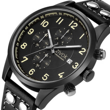 MEGIR Official Quartz Watches Fashion Genuine Leather Chronograph Watch Clock for Gentle Men Male Students Waterproof Wristwatch все цены