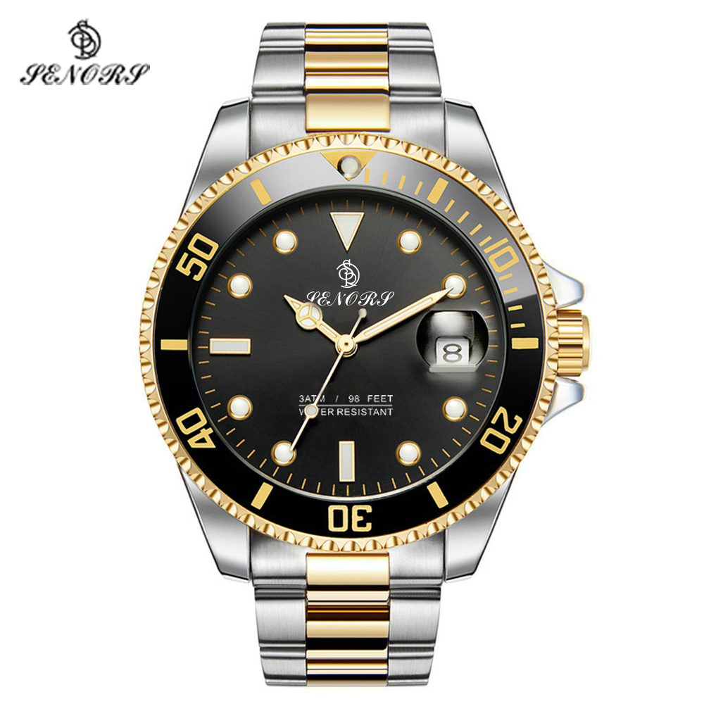 Senors Drop Shipping Automatic Mechanical Men Watch Fashion Luxury Stainless Steel Male Clock Relogio Masculino