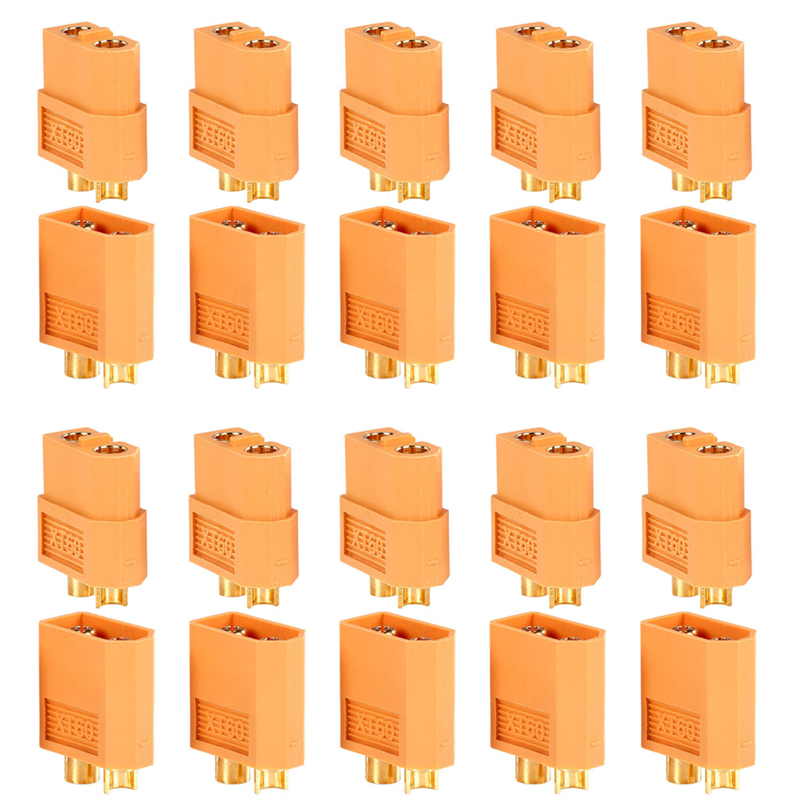 10 Pairs 20Pcs XT60 XT30 Amass XT30U XT60+ Male Female Bullet Connectors Plug For RC Quadcopter FPV Racing Drone Lipo Battery