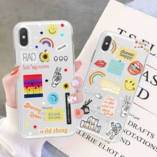 Luxury Mix Beach Transparent Case For iPhone 8 7 Plus X XS Max XR 6 S 5 SE Clear Smile&Mouth Back Cover Soft Fundas Coque