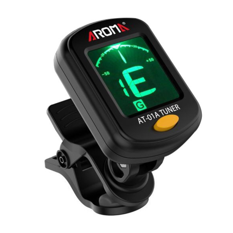 AT-01A/101 Guitar Tuner Rotatable Clip-on Tuner LCD Display For Chromatic Acoustic Guitar Bass Ukulele Guitar Accessories Parts