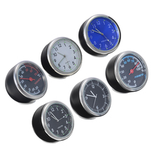 1pcs New Automobile Mini Car Auto Digital Clock Ornament Thermometer Hygrometer Styling Car Accessories