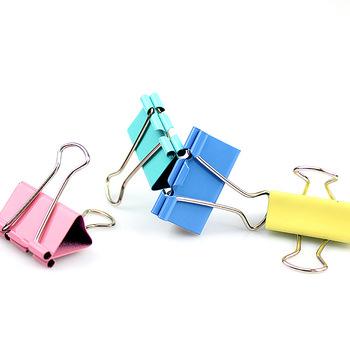 40 sztuk kolorowe metalowe klipsy do segregatorów spinacz do papieru 3*2cm szkolne artykuły szkolne biurowe kolor losowo wysokiej jakości tanie i dobre opinie CN (pochodzenie) Spoiwa klip