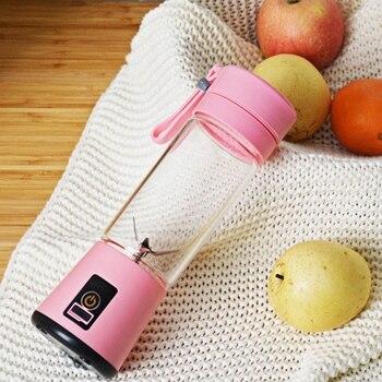 Taşınabilir Elektrikli Meyve Sıkacağı USB El Sebze Suyu üreticisi Blender şarj Edilebilir Mini Suyu Yapım Bardak Ile şarj Kablosu
