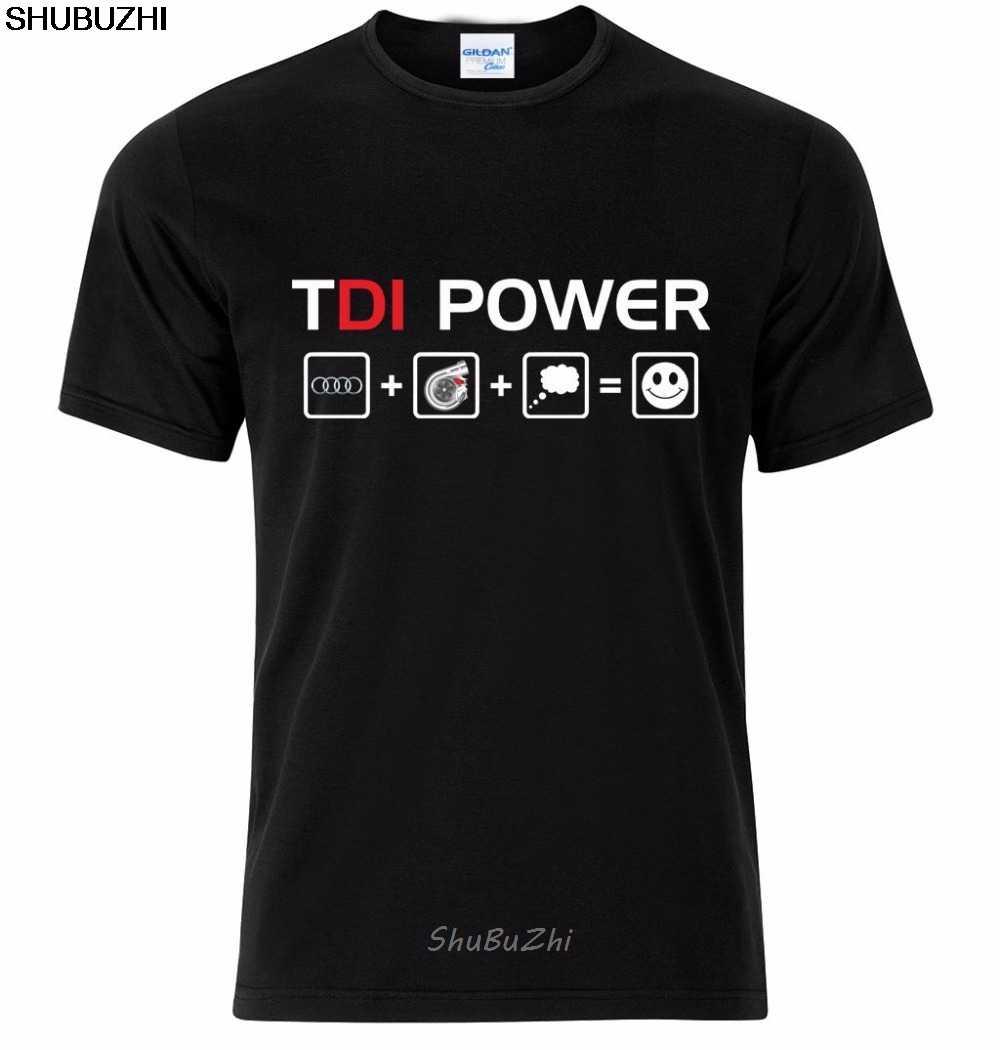 Shubuzhi erkek T Shirt moda komik sıcak satış giyim rahat kısa kollu gömlek TDI güç A3 A4 A5 A6 A7 a8 S RS T gömlek sbz3283
