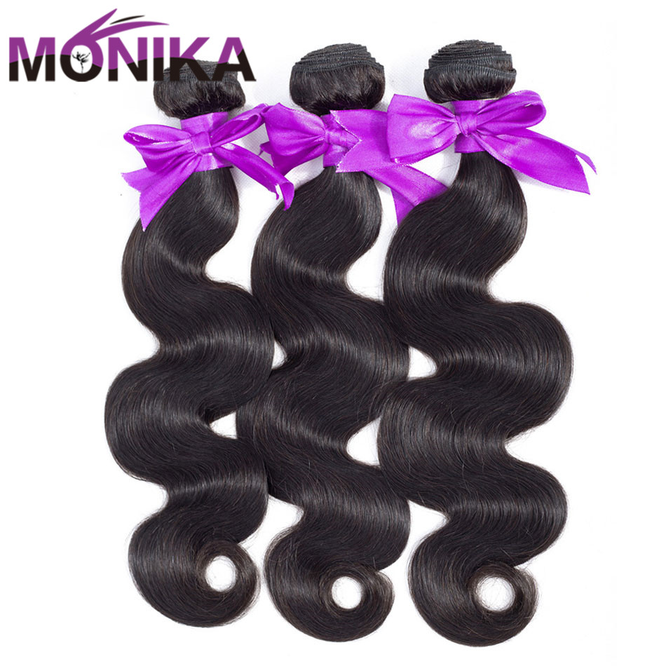 Monika Body Wave Hair 30 Inch Bundles Cambodian Hair Bundle Deals 1/4/3 Bundles Human Hair Weave Bundles Non-Remy Hair Extension