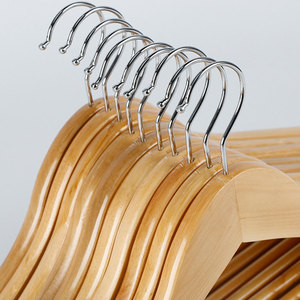 Image 5 - 10pcs Solid Wood Hanger Non Slip Hangers Clothes Hangers Shirts Sweaters Dress Hanger Drying Rack for Home