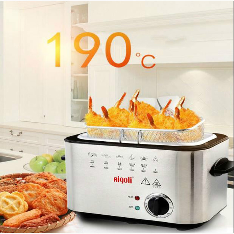 220V 1200W Constant temperature electric frying machine multifunctional household smokeless commercial Deep fryers Electric frye
