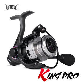 Kingdom KING PRO carretes giratorios 5,2: 1 9 + 1BB doble cojinete bloque deslizante 7-11KG fuerza de arrastre peso ligero carretes de pesca de alta calidad