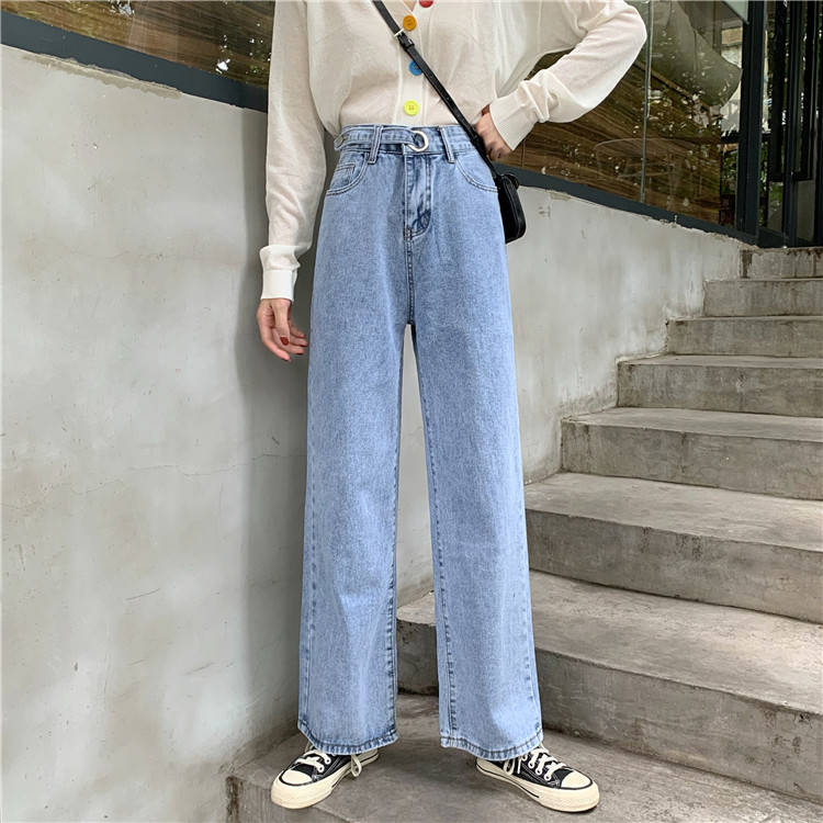Fa9013 2019 New Autumn Winter Women Fashion Casual  Denim Pants Womens Jeans High Waisted Jeans