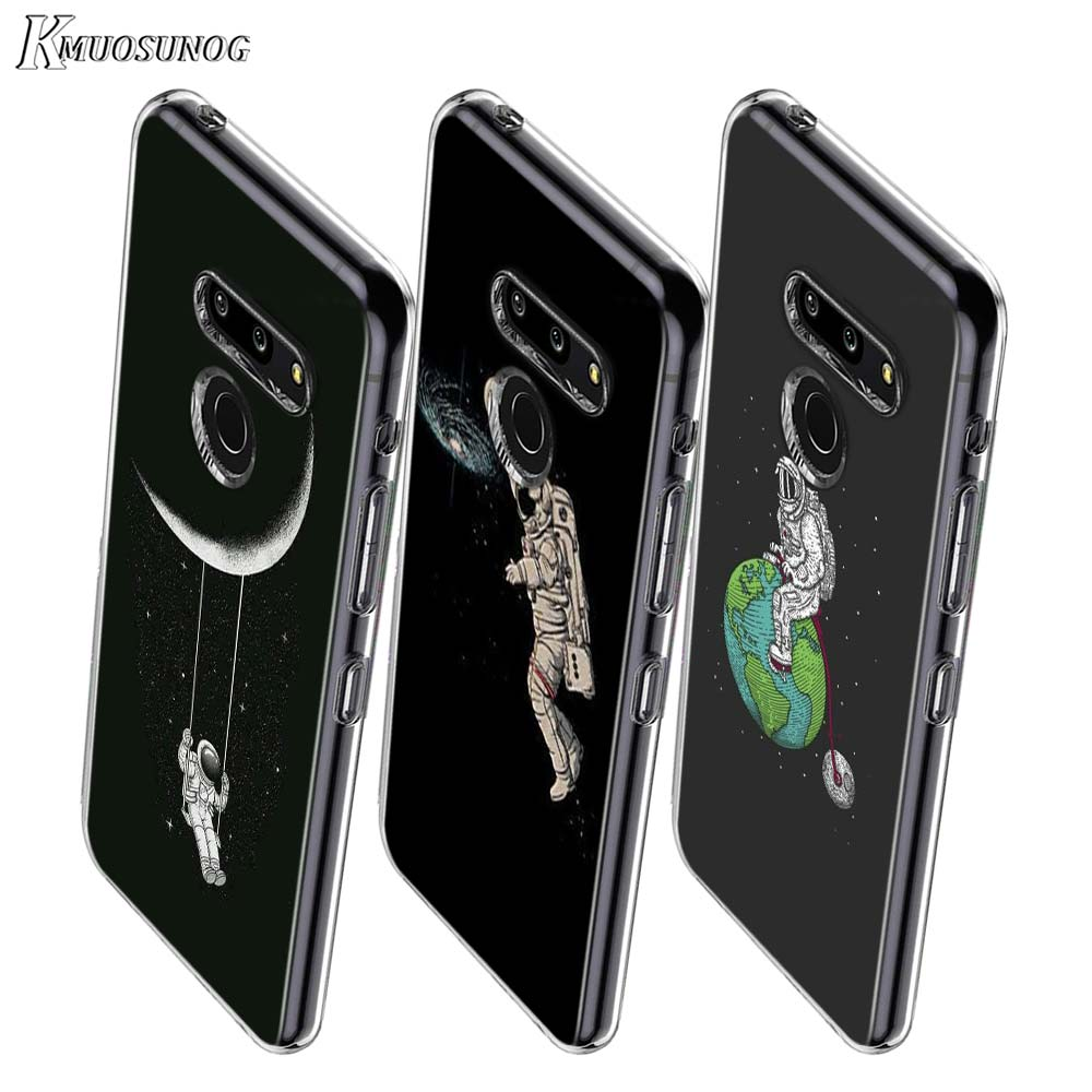 Astronaut Space Moon Style For LG W20 W10 V50S V50 V40 V30 K50S K40S K30 K20 Q60 Q8 Q7 Q6 G8 G7 G6 Thinq Phone Case