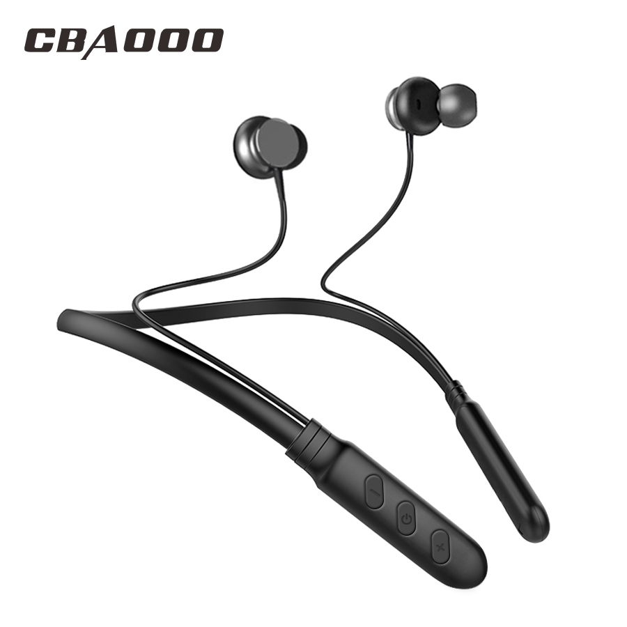 CBAOOO BH1 Bluetooth Headphone Magnetic Wireless Earphone Neckband Sport Headset with Microphone for iPhone Android