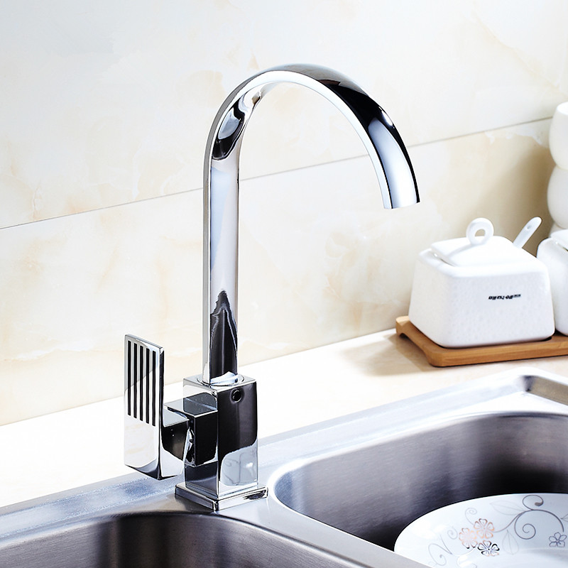 Kitchen Faucets Stainless Steel Kitchen Mixer Single Handle Single Hole Kitchen Faucet Mixer Sink Tap Kitchen Faucet