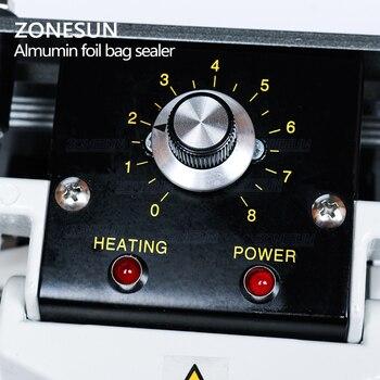 ZONESUN FKR400 220V Ręczne Zgrzewarka Impulsowa Ciepła Uszczelniania Folia Aluminiowa Zamknięcie Torebki Uszczelniaczem Uszczelniania Maszyny