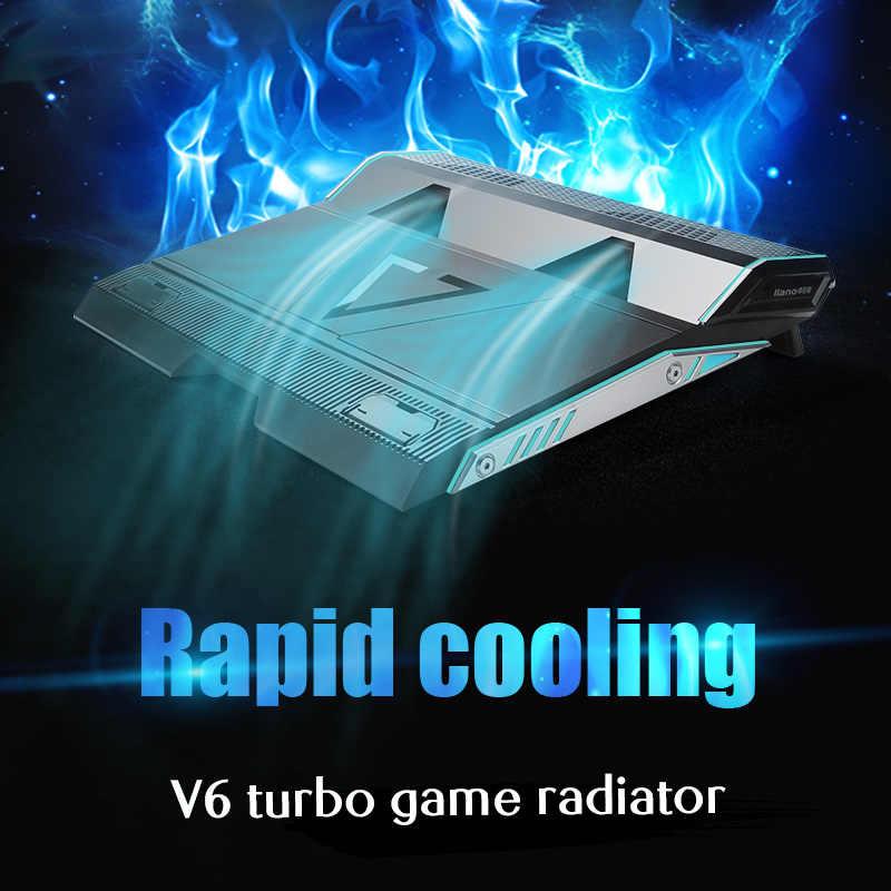 Llano dizüstü soğutucusu 2 USB bağlantı noktası ve iki soğutma fanı dizüstü soğutma pedi dizüstü standı için 13.3/14/15.6/17.3 inç Laptop için
