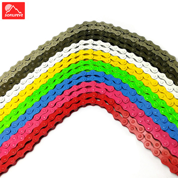 Colorful 1 speed Bicycle Chain Fixed Gear Fixie Bike Chain Ultralight 96L 1/2X1/8 Cycling Road Bike Chain for MTB BMX цена 2017