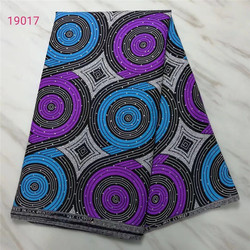 Ankara kamień wosk Tissu Africain Ankara tkanina we wzory typu African Wax 6yds tanie afryki tkaniny chiny z dżetów dla sukienka na imprezę