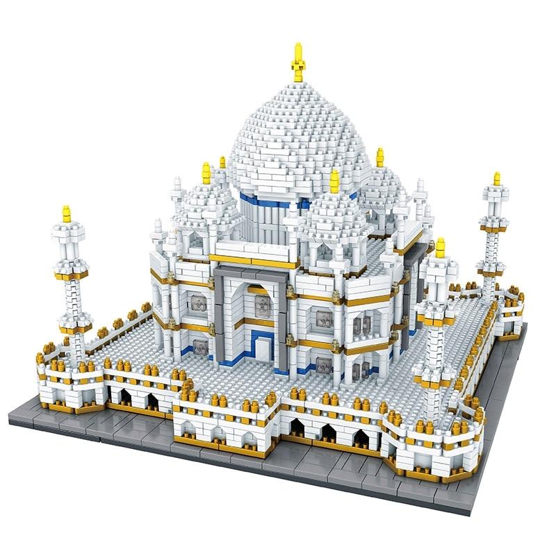 Célèbre jouet de construction taj mahal bloc 2019 blocs de diamants chauds 3950 pièces mini bloc