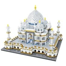 อาคารที่มีชื่อเสียงของเล่น Taj Mahal 2019 Hot Diamond Blocks 3950 pcs MINI BLOCK