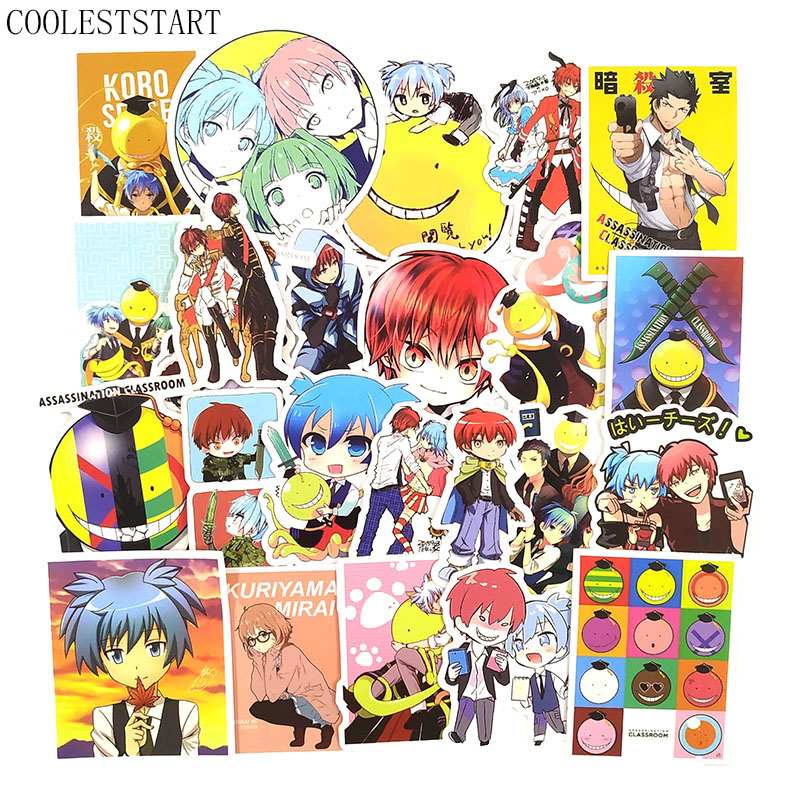50 Pcs/Set Anime Assassination Classroom Graffiti Stickers For Luggage Laptop Notebook Motorcycle Skateboard Bicycle Stickes