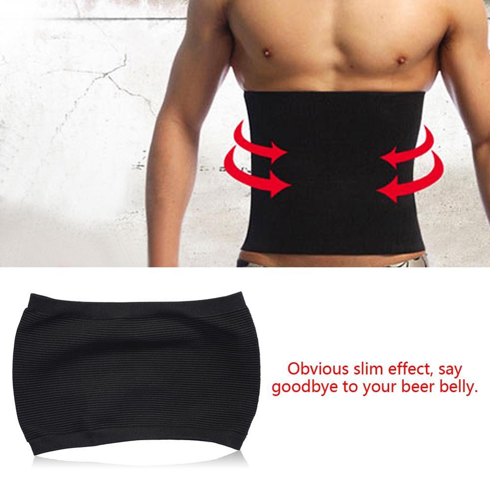 Frcolor Men Slimming Belt Beer Belly Body Shaper Belt Abdomen Shaper Size M