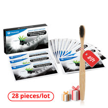 Charcoal Advanced Teeth Whitening Strips 28 Pieces Dental Care Veneer for Tooth Sticker Oral Hygiene White