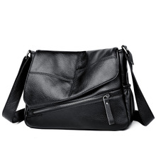 Fashion Women Bag Leather Handbags PU Shoulder Flap Crossbody Bags for Messenger Simple Style