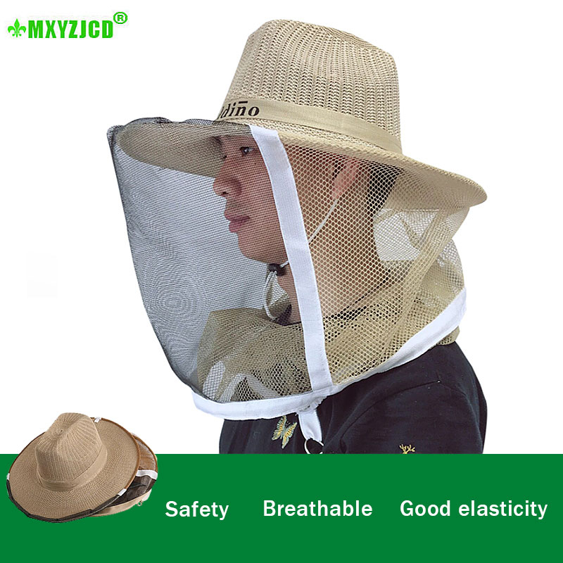 Capturing Bee Protective Hat Beekeeper Head Protection Cover Breathable Safety Woven Cowboy Hat Beekeeper Dedicated