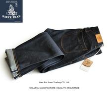 SALSA di ORIGINE 916 VT Giappone Okayama Tessuto Cimosa Jeans Denim Grezzo Jeans Non Lavato di Alta Qualità Jeans Dritto Giappone Blu Dei Jeans