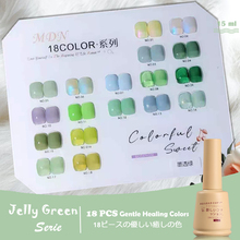 18pcs/lot Opal Jelly Nail Gel Polish 15ml Semi-transparent White Green Crystal Varnish Soak Off Nail Art UV Gel Need Base Coat