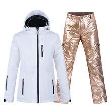 Зимний теплый женский лыжный костюм до 30 °c одежда для сноуборда