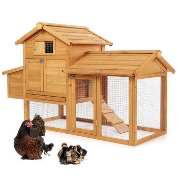 Outdoor Solid Wood Chicken Coop Houses Anti-corrosion Wood Rabbit Cage Rainproof Shed Domestic Chicken Cage Wooden Chicken House